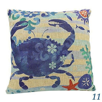 Ocean Mermaid Double Sided Pillow Covers-Pillow Cover-11 Crab-9 Jellyfish-Coastal Passion
