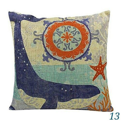 Ocean Mermaid Double Sided Pillow Covers-Pillow Cover-13 Whale-9 Jellyfish-Coastal Passion