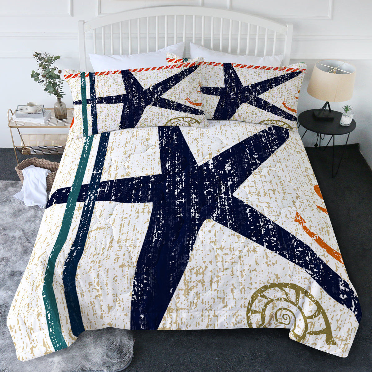 Beachy Starfish Comforter Set