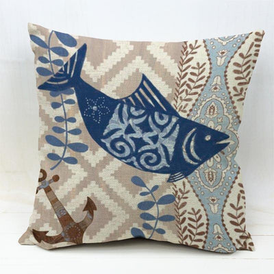 Ocean Theme Collection-Pillow Cover-Fish-Coastal Passion
