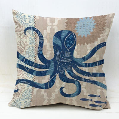 Ocean Theme Collection-Pillow Cover-Octopus-Coastal Passion