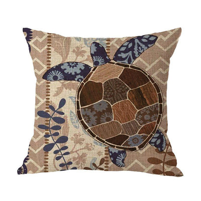 Ocean Theme Collection-Pillow Cover-Sea Turtle-Coastal Passion