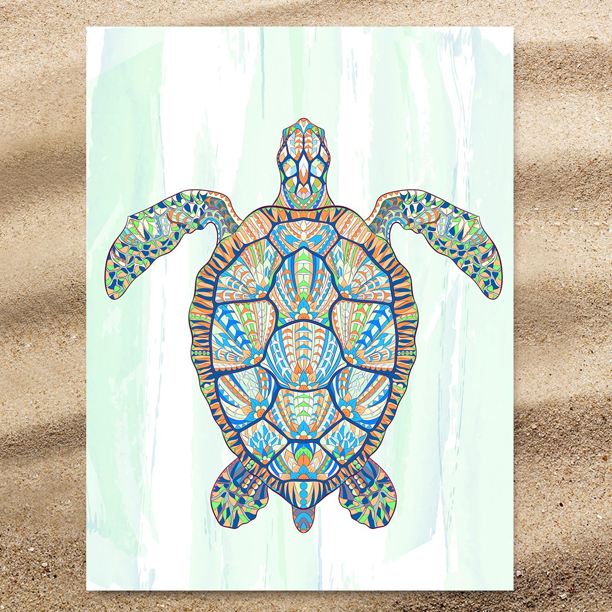 Ocean Turtle Extra Large Towel-Coastal Passion