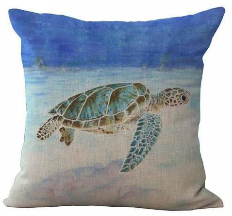 Ocean Turtle Pillow Cover