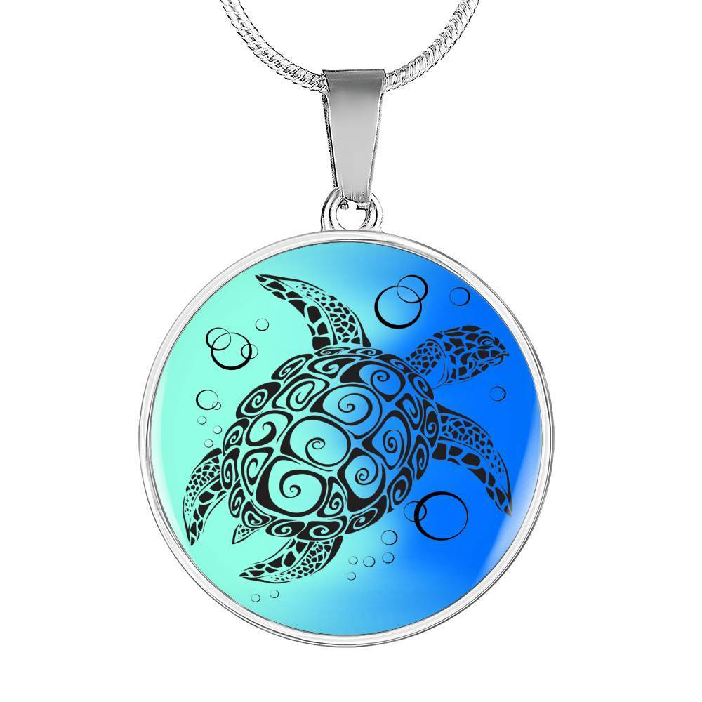 Ocean Turtle Twist Necklace-Jewelry-Luxury Necklace (Silver)-No-Coastal Passion