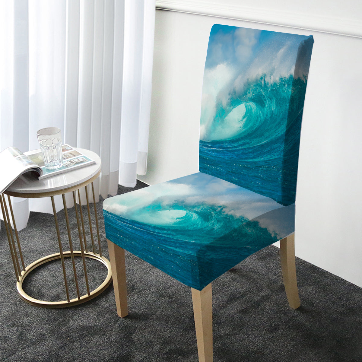 Ocean Wave Chair Cover