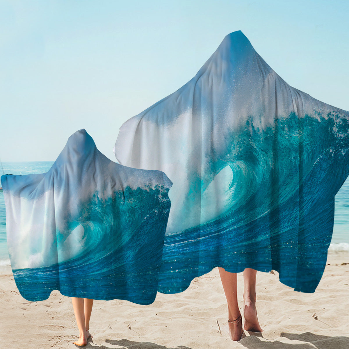 Ocean Wave Hooded Towel