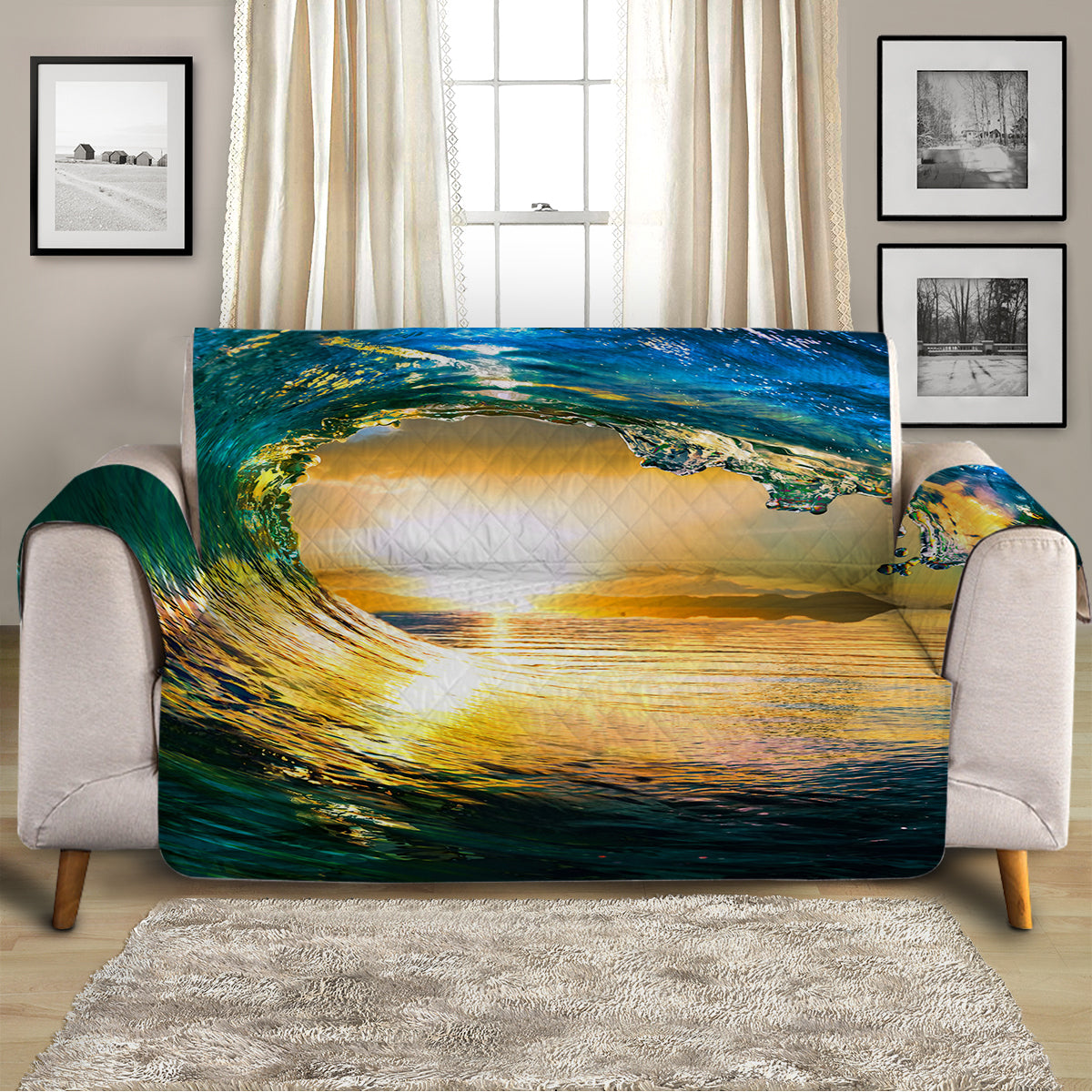 Eye of the Ocean Sofa Cover