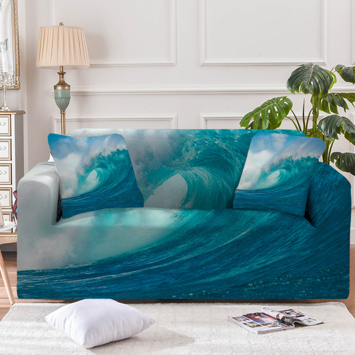 Ocean Wave Couch Cover