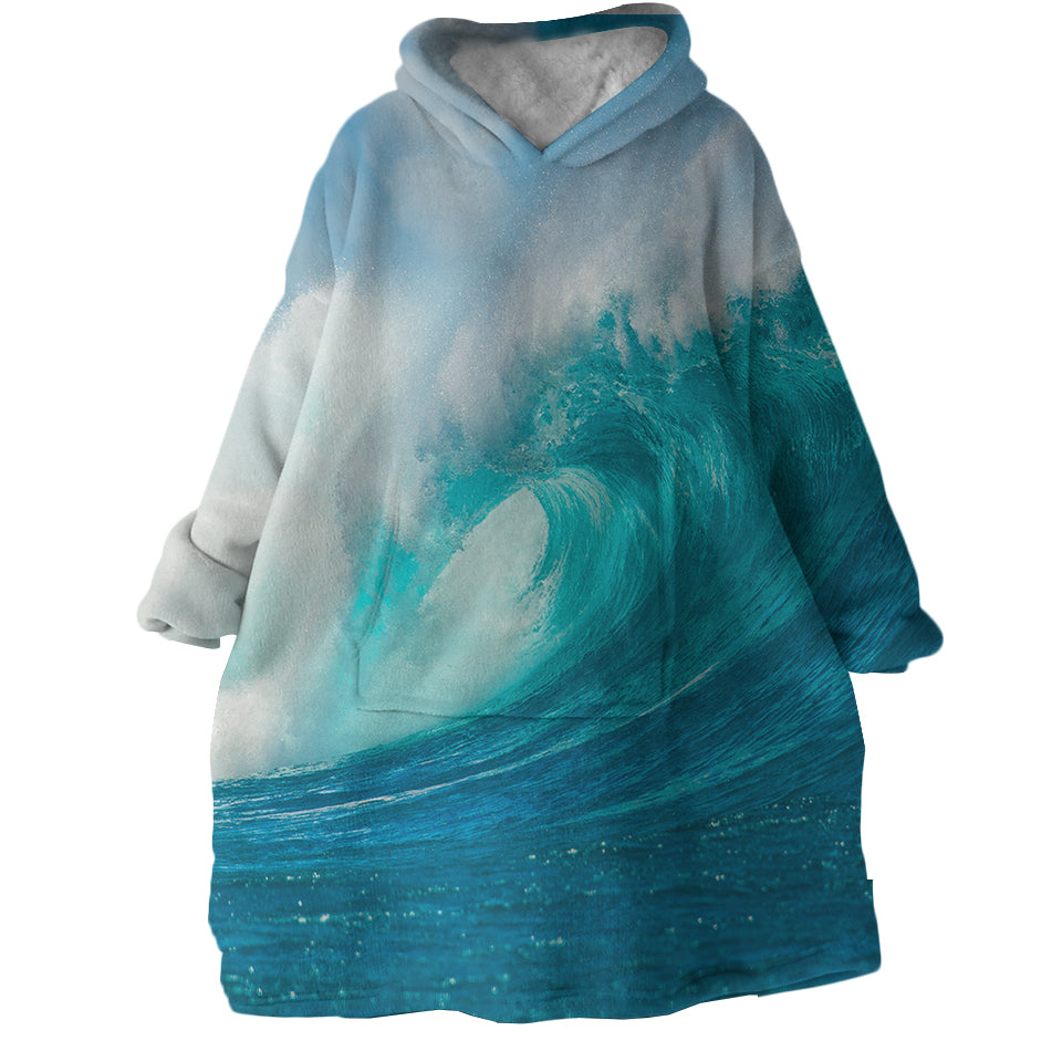 Ocean Wave Wearable Blanket Hoodie