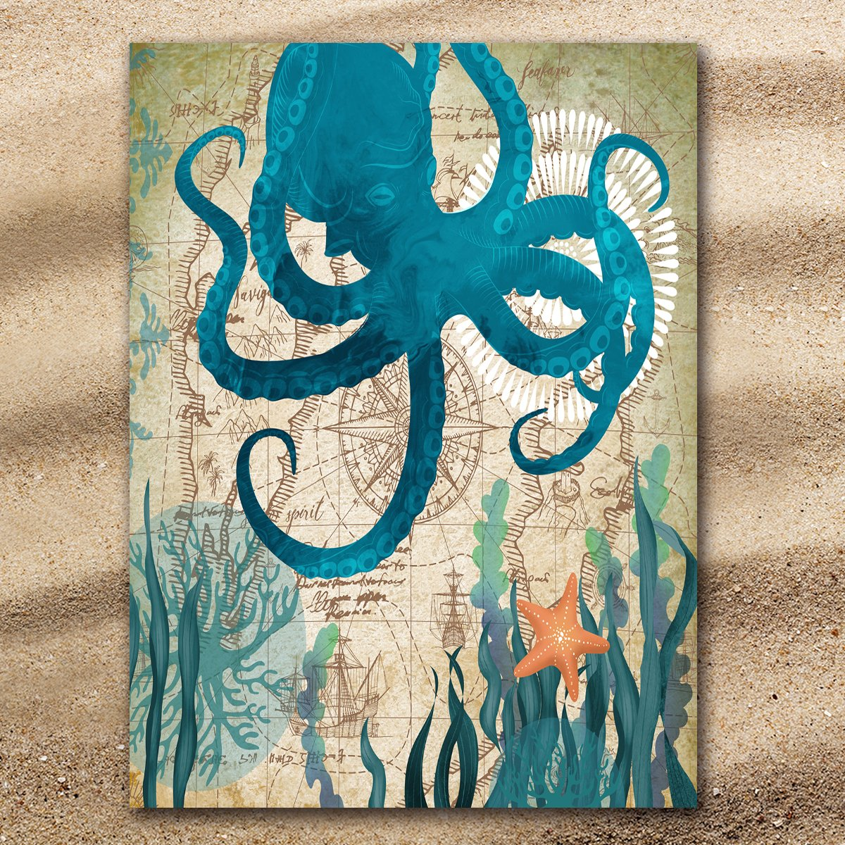 Octopus Love Extra Large Towel-Coastal Passion
