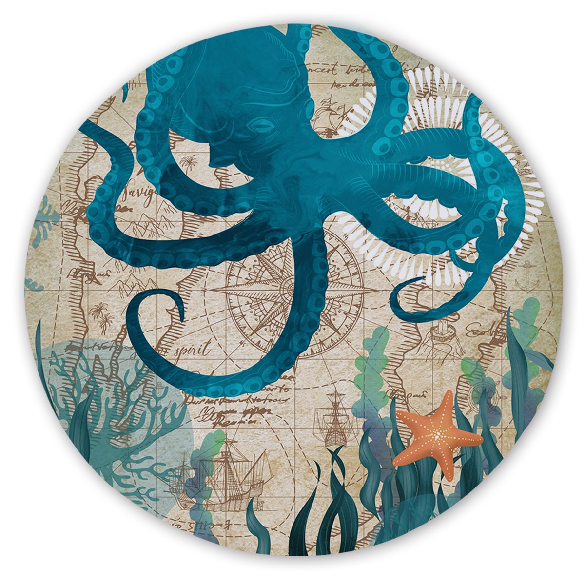 Octopus Love Round Sand-Free Towel