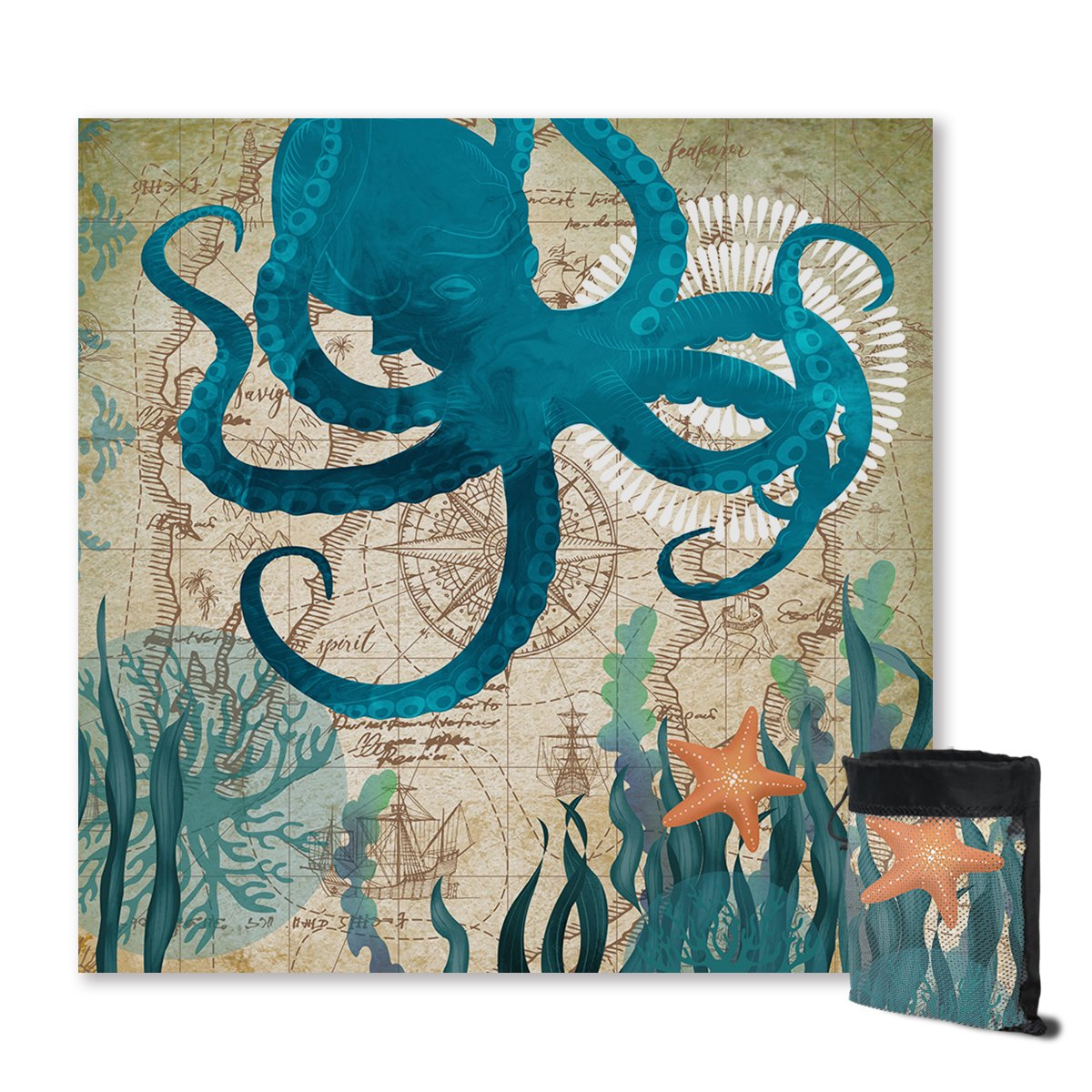 Octopus Love Sand Free Towel