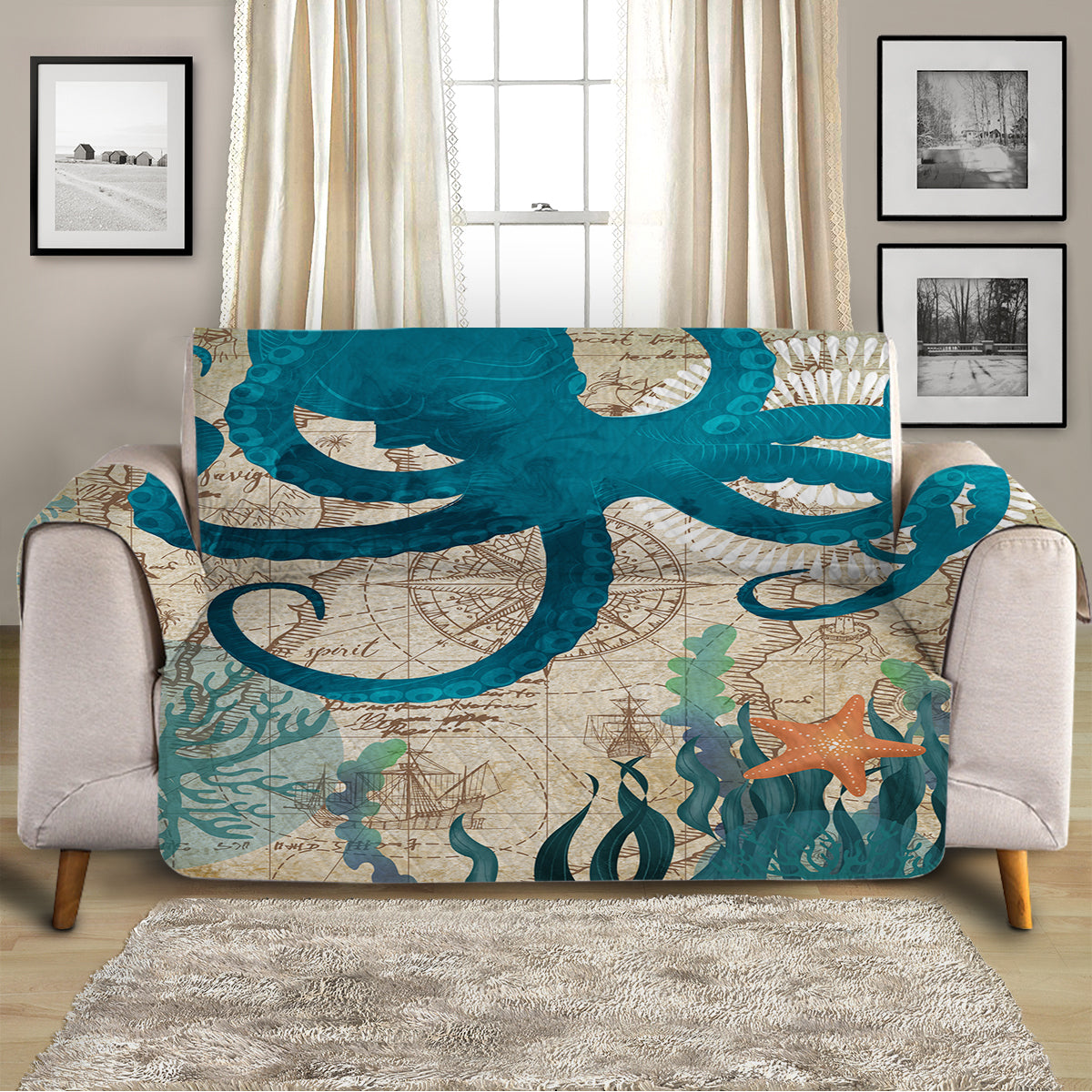 Octopus Love Sofa Cover