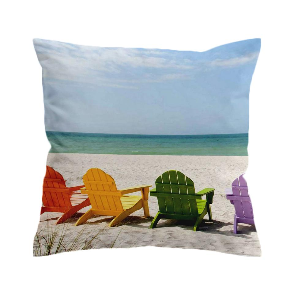 Our Happy Place 1 Pillow Cover-Coastal Passion