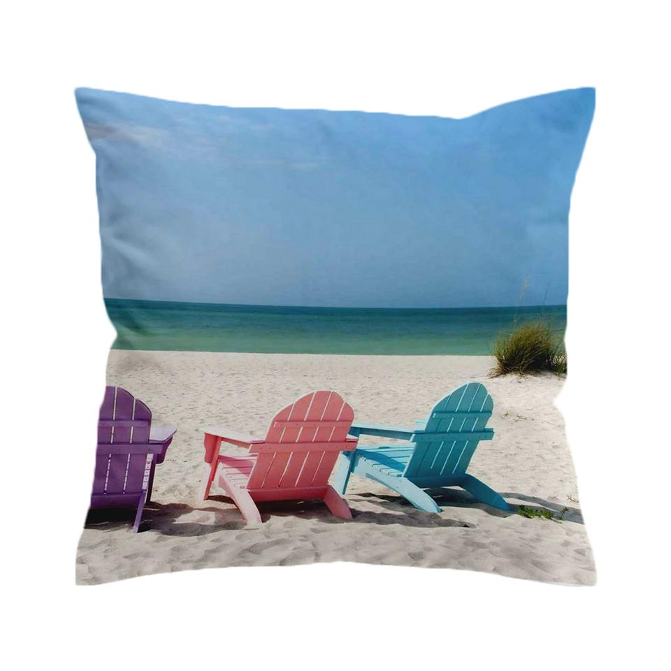 Our Happy Place 2 Pillow Cover-Coastal Passion