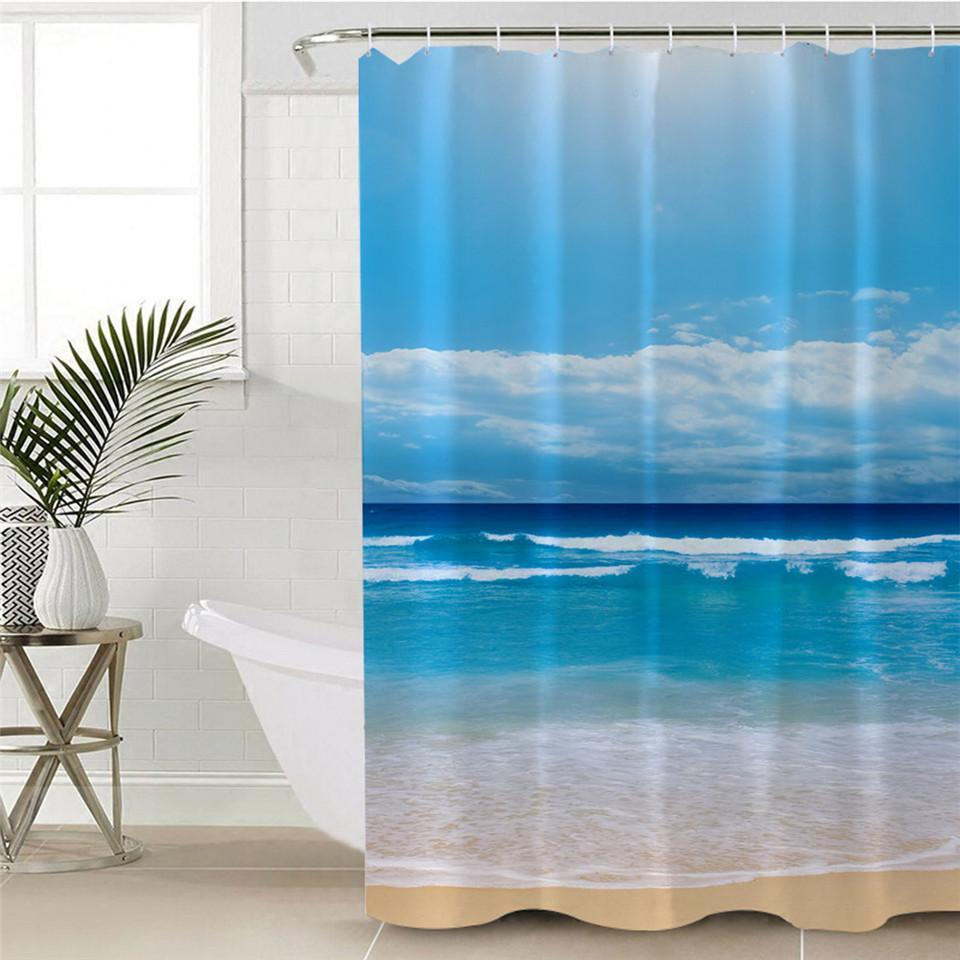 Peace of the Beach Shower Curtain-Shower Curtain-Coastal Passion