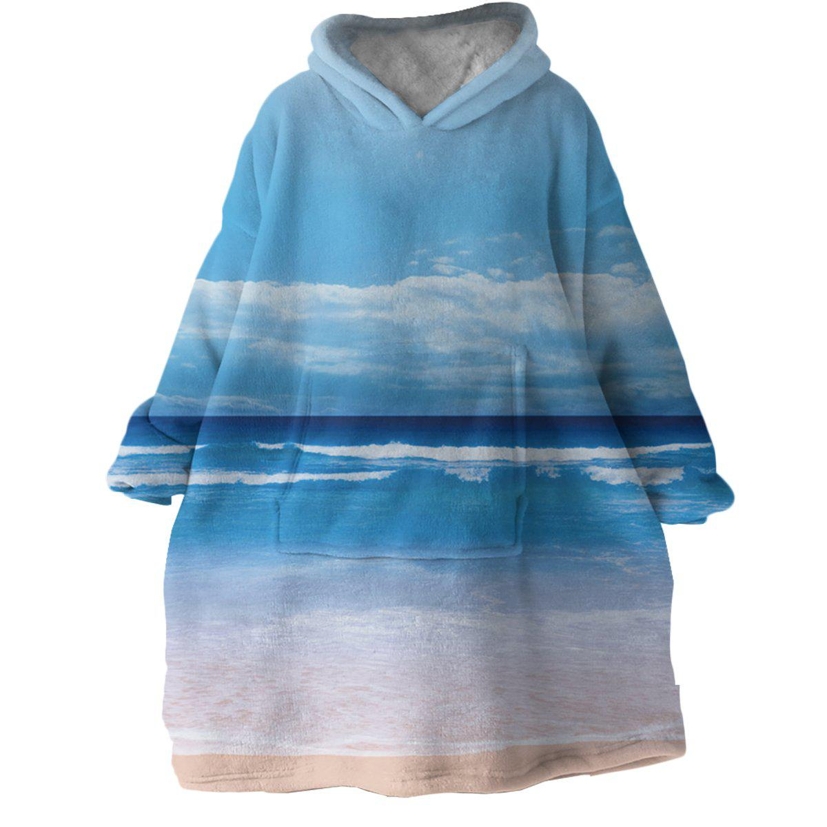 Peace of the Beach Wearable Blanket Hoodie-Coastal Passion