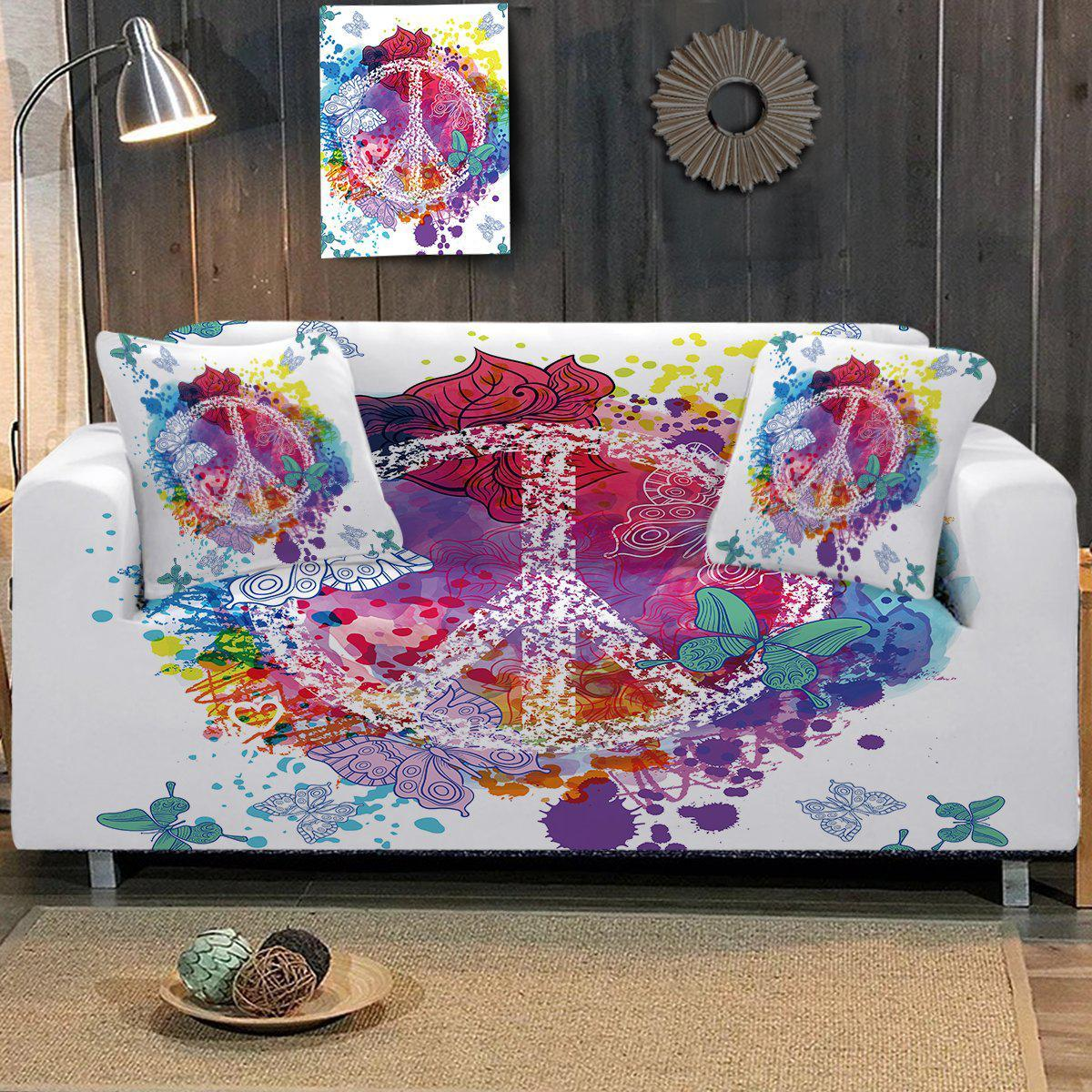 Sofa Slipcover-Peace on the Beach Couch Cover-Coastal Passion