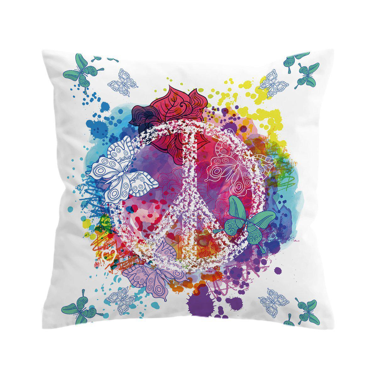 Peace on the Beach Pillow Cover-Coastal Passion