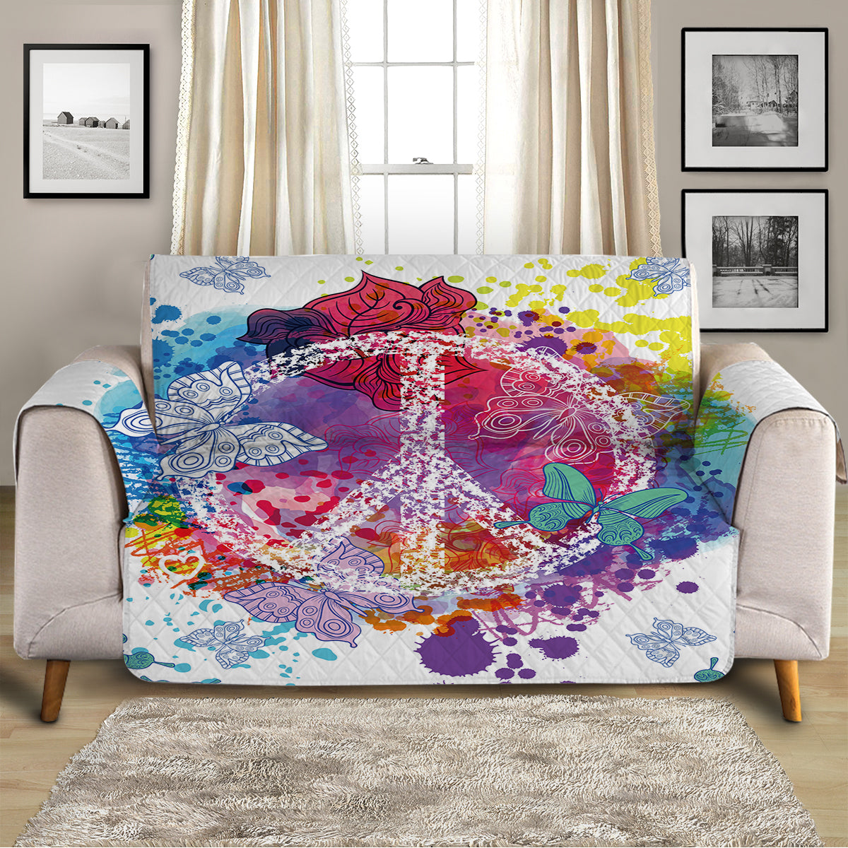 Peace on the Beach Sofa Cover
