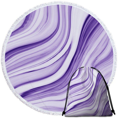 Round Beach Towel-Pfeiffer Beach Towel + Backpack-Coastal Passion