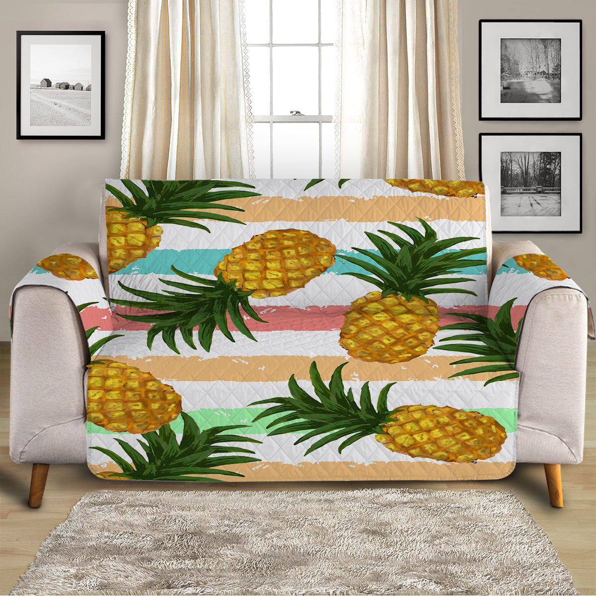 Pineapple Party Sofa Cover