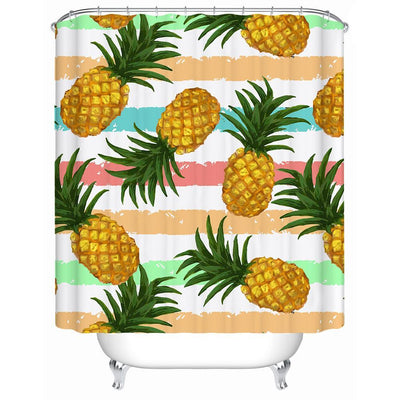 "Pineapple Party Shower Curtain-Shower Curtain-59"" L. x 70"" H.-Coastal Passion"
