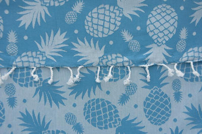 100% Cotton Turkish Towel-Pineapple Turquoise 100% Cotton Towel-Coastal Passion