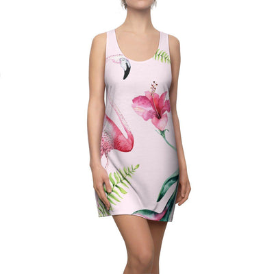 Pink Flamingo & Hibiscus Dress-All Over Prints-XS-Coastal Passion
