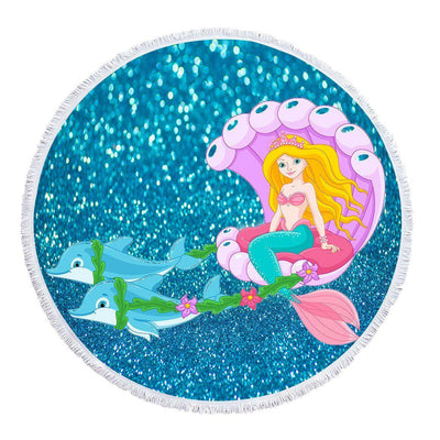 Princess Mermy - Baby Size 100 cm-Round Beach Towel-Coastal Passion