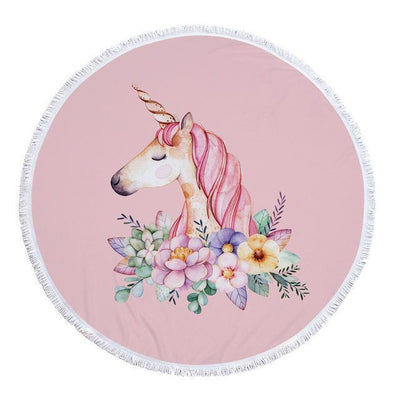 Romantic Unicorn Collection - Baby Size 100 cm-Round Beach Towel-Romantic Unicorn-Coastal Passion