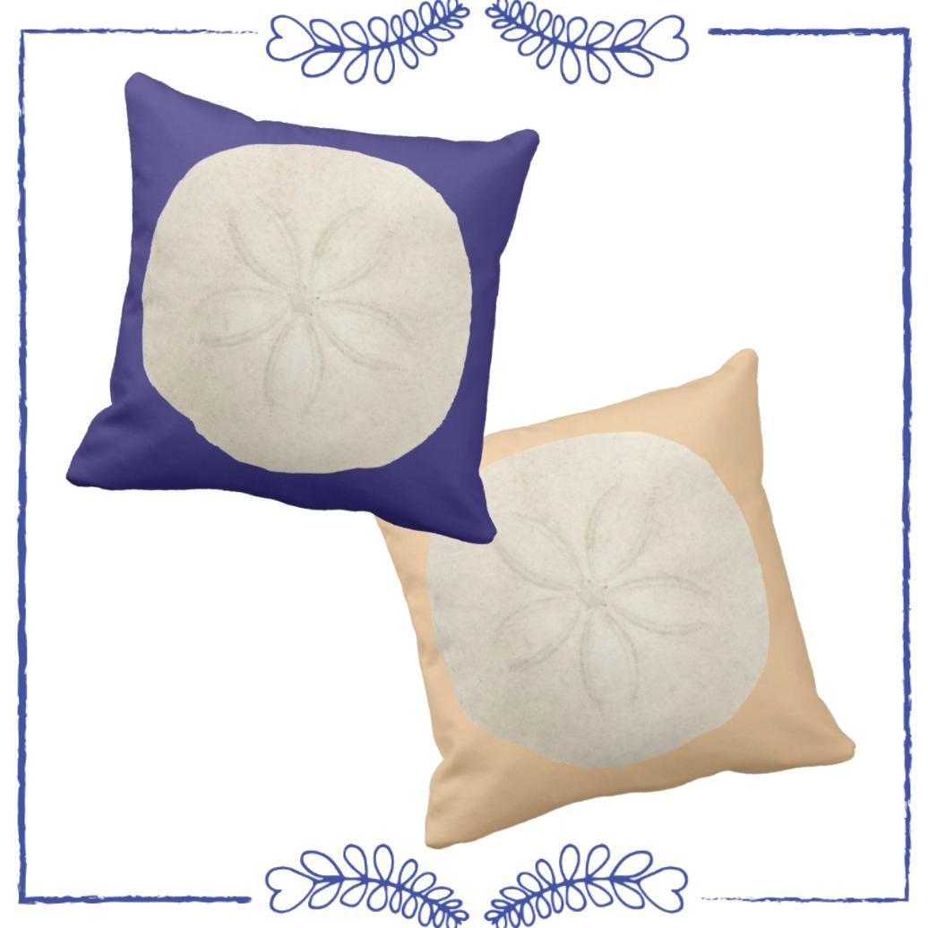 Sand Dollar Pillow Cover-Pillow Cover-Coastal Passion