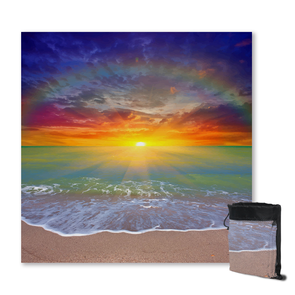 Sunset Beach Sand Free Towel