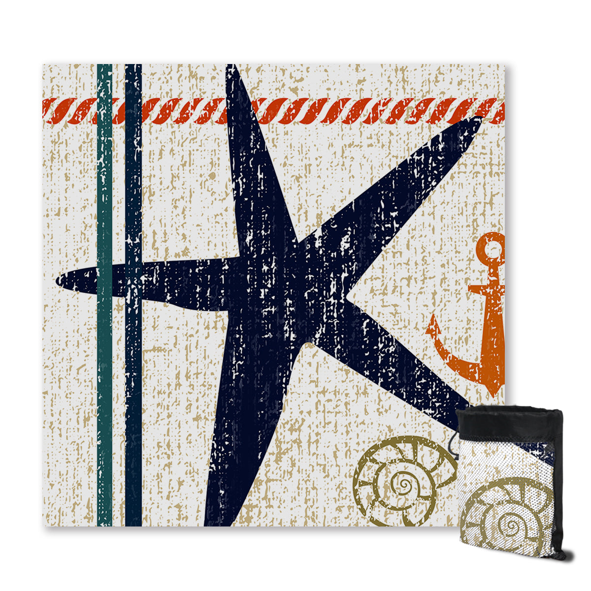 Beachy Starfish Sand Free Towel