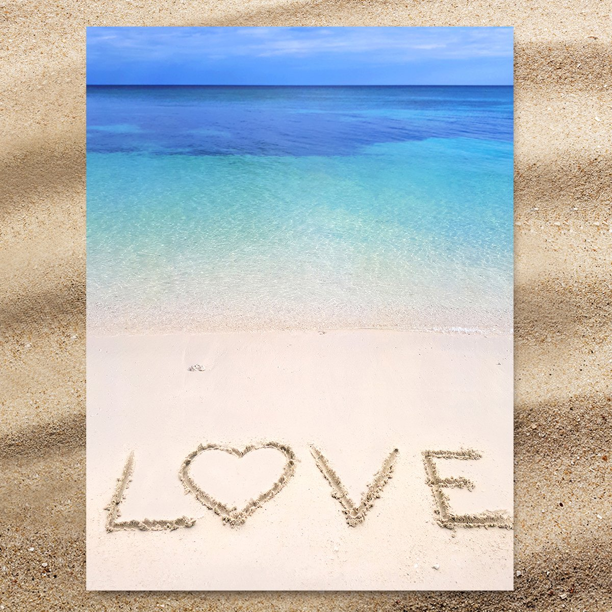 Sandy Love Extra Large Towel-Coastal Passion