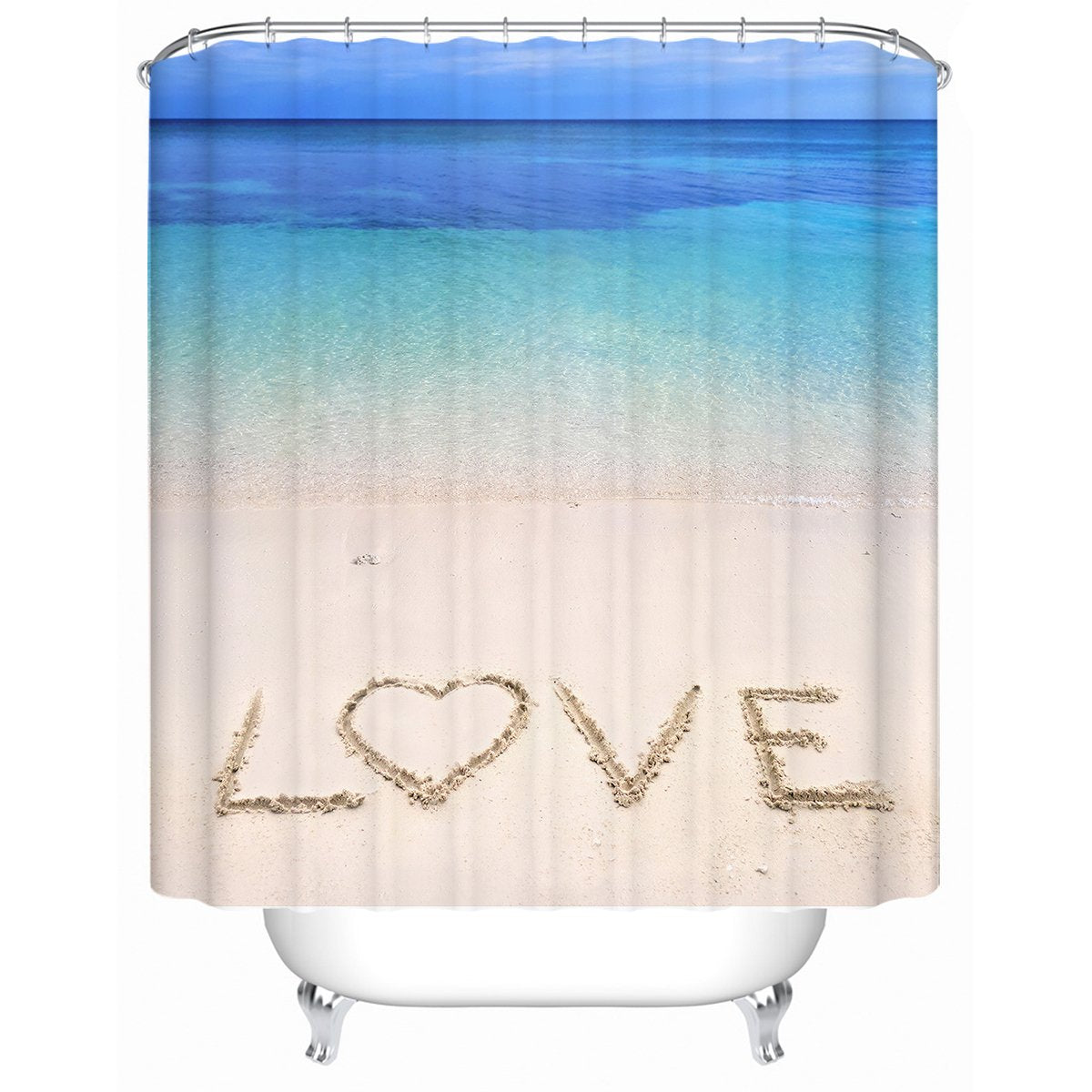 Sandy Love Shower Curtain