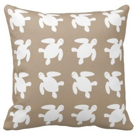 Sandy Sea Turtles Pillow Cover NEW ARRIVAL!-Pillow Cover-Coastal Passion