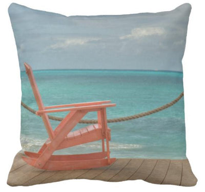 "Sea Breeze Collection-Pillow Cover-17"" x 17""-Standard: Linen Blend-Beach Simplicity-Coastal Passion"