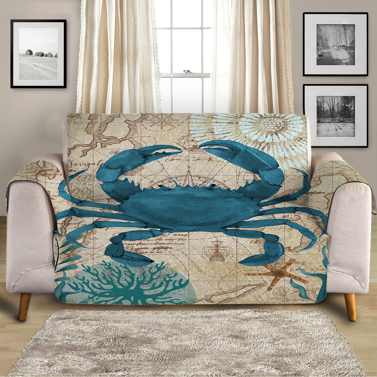 Crab Love Sofa Cover