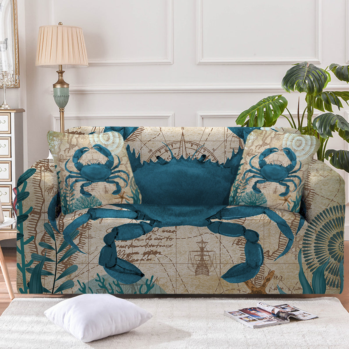 Crab Love Couch Cover