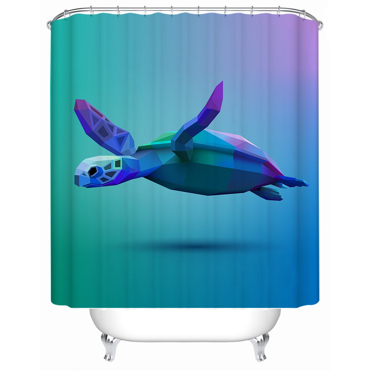 Sea Turtle Glide Shower Curtain-Coastal Passion