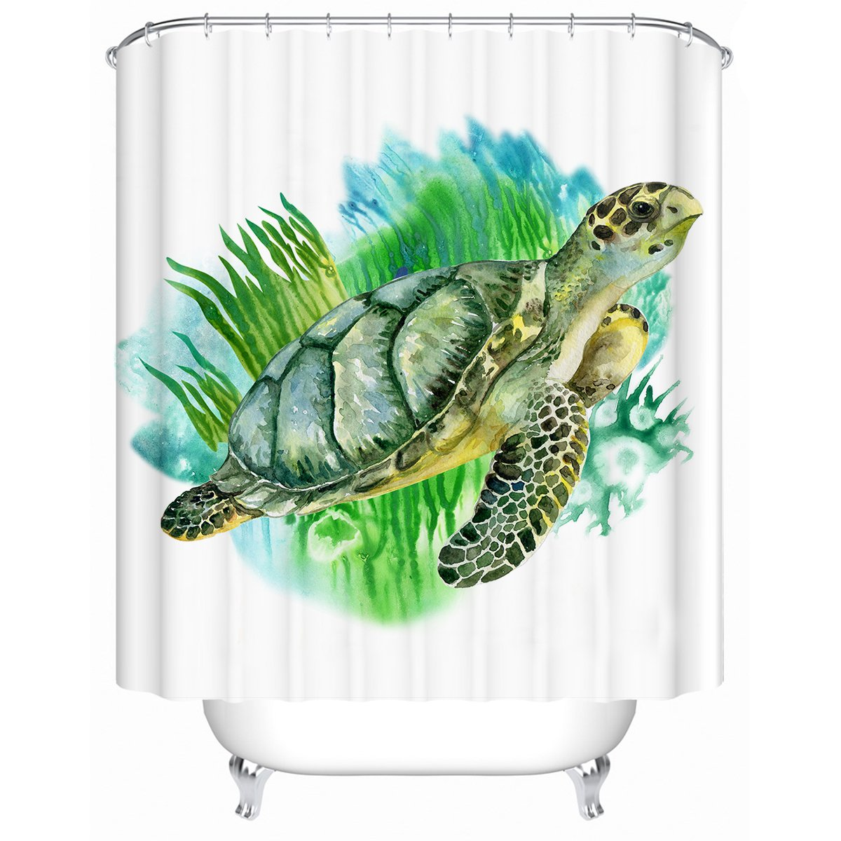 Sea Turtle Greens Shower Curtain