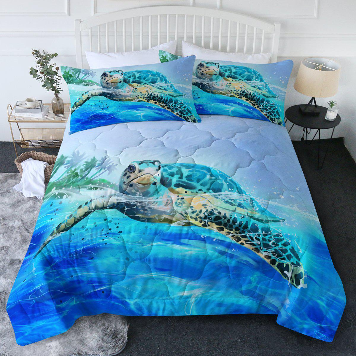 Sea Turtle Life Comforter Set-Coastal Passion