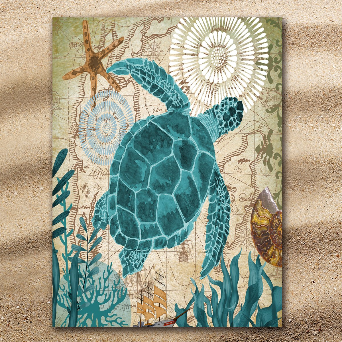 Sea Turtle Love Extra Large Towel-Coastal Passion