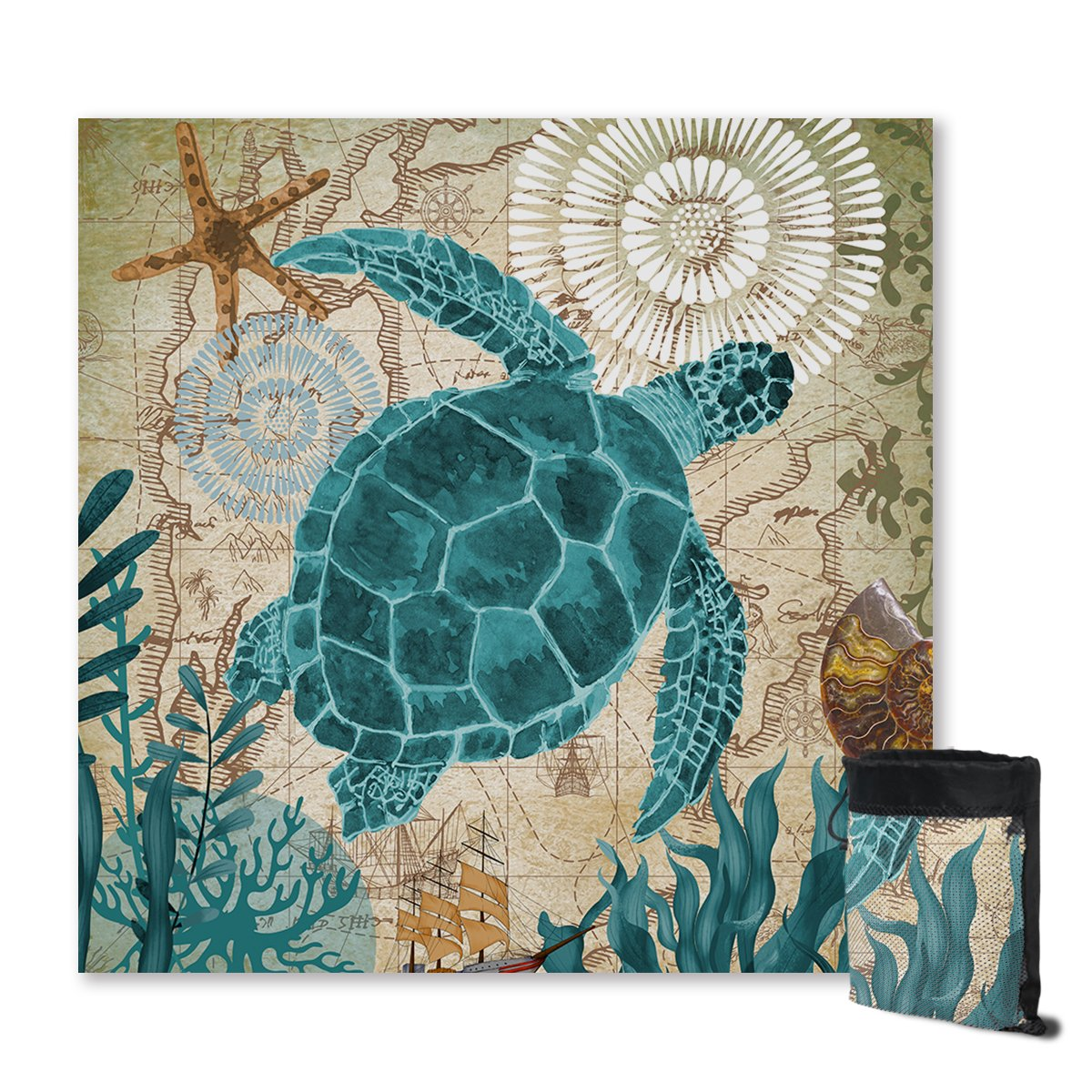Sea Turtle Love Sand Free Towel