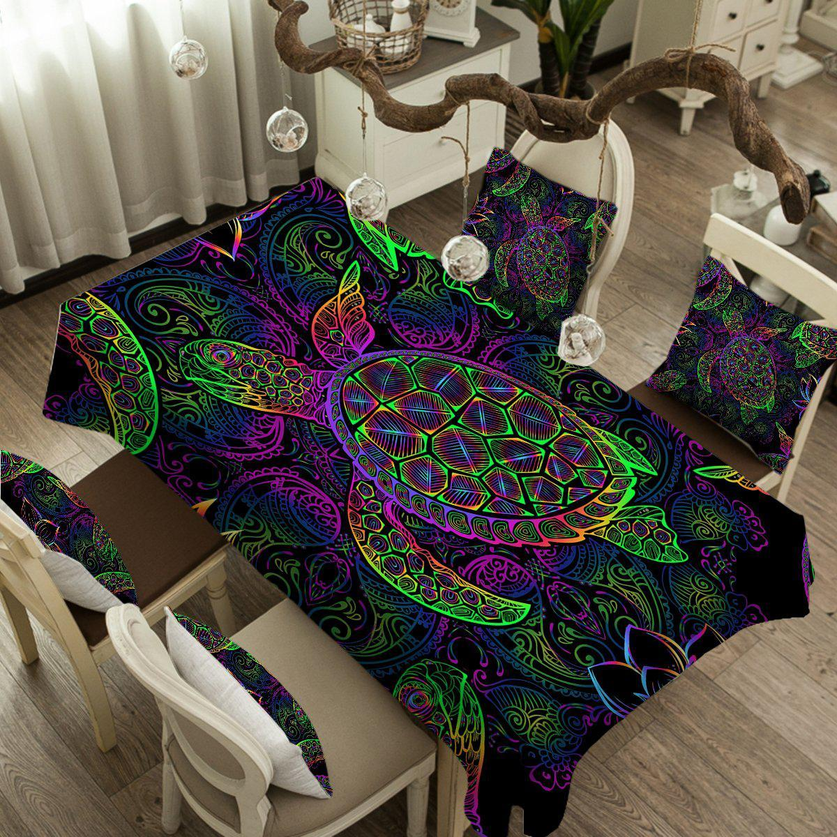 Sea Turtle Mysteries Tablecloth-Coastal Passion