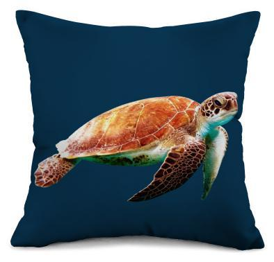Sea Turtle Pillow Cover-Pillow Cover-Coastal Passion