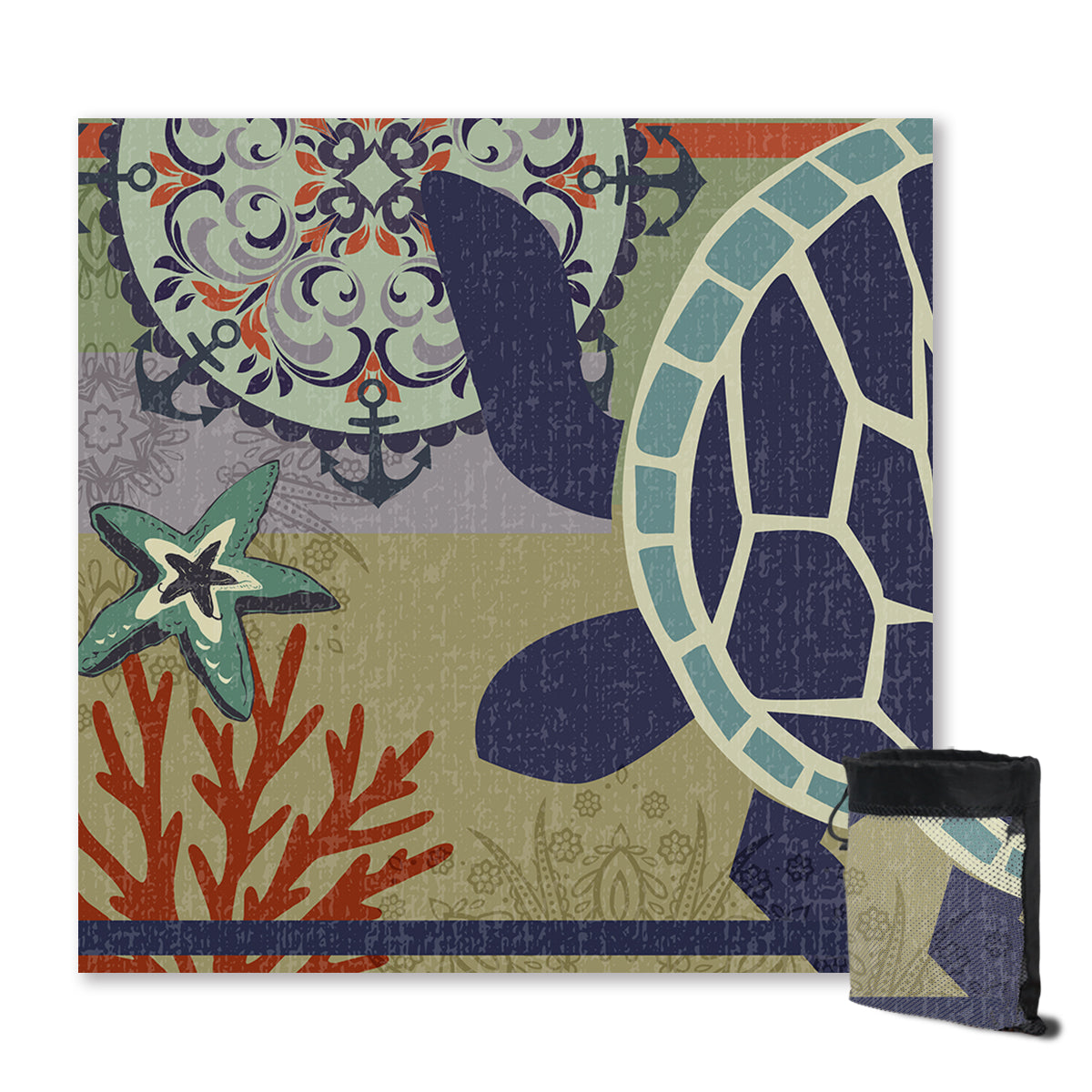 Sea Turtle Passion Sand Free Towel