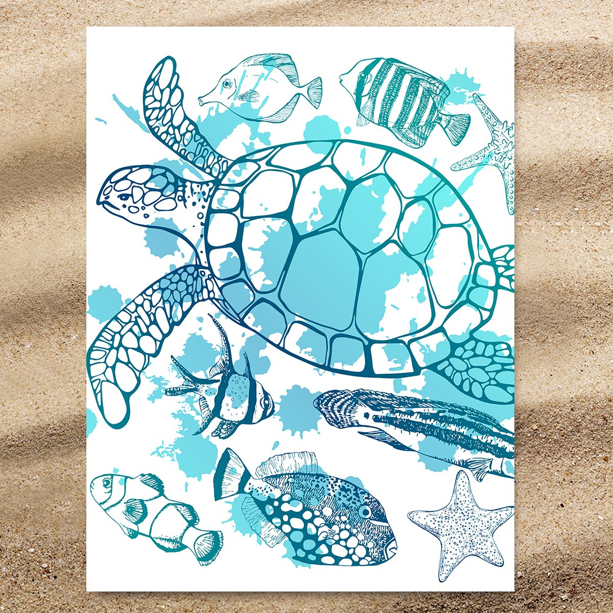 Sea Turtle Society Extra Large Towel-Coastal Passion